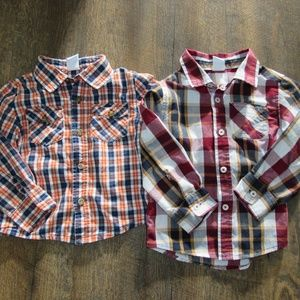 Healthtex long sleeved shirts toddler boy size 3T